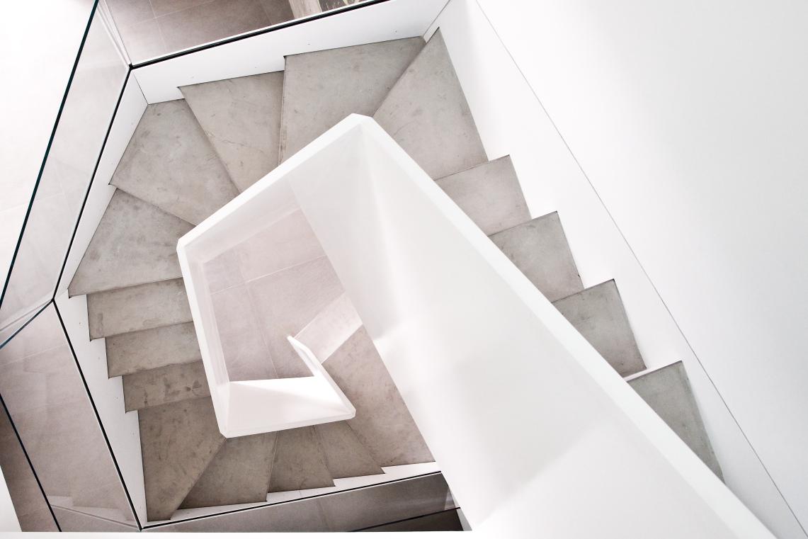 Case Study #12484: Geometric Staircase Client: Jurg Rehbein + Leah Demchick  Design: Jurg Rehbein + McKay Architecture U0026 Design