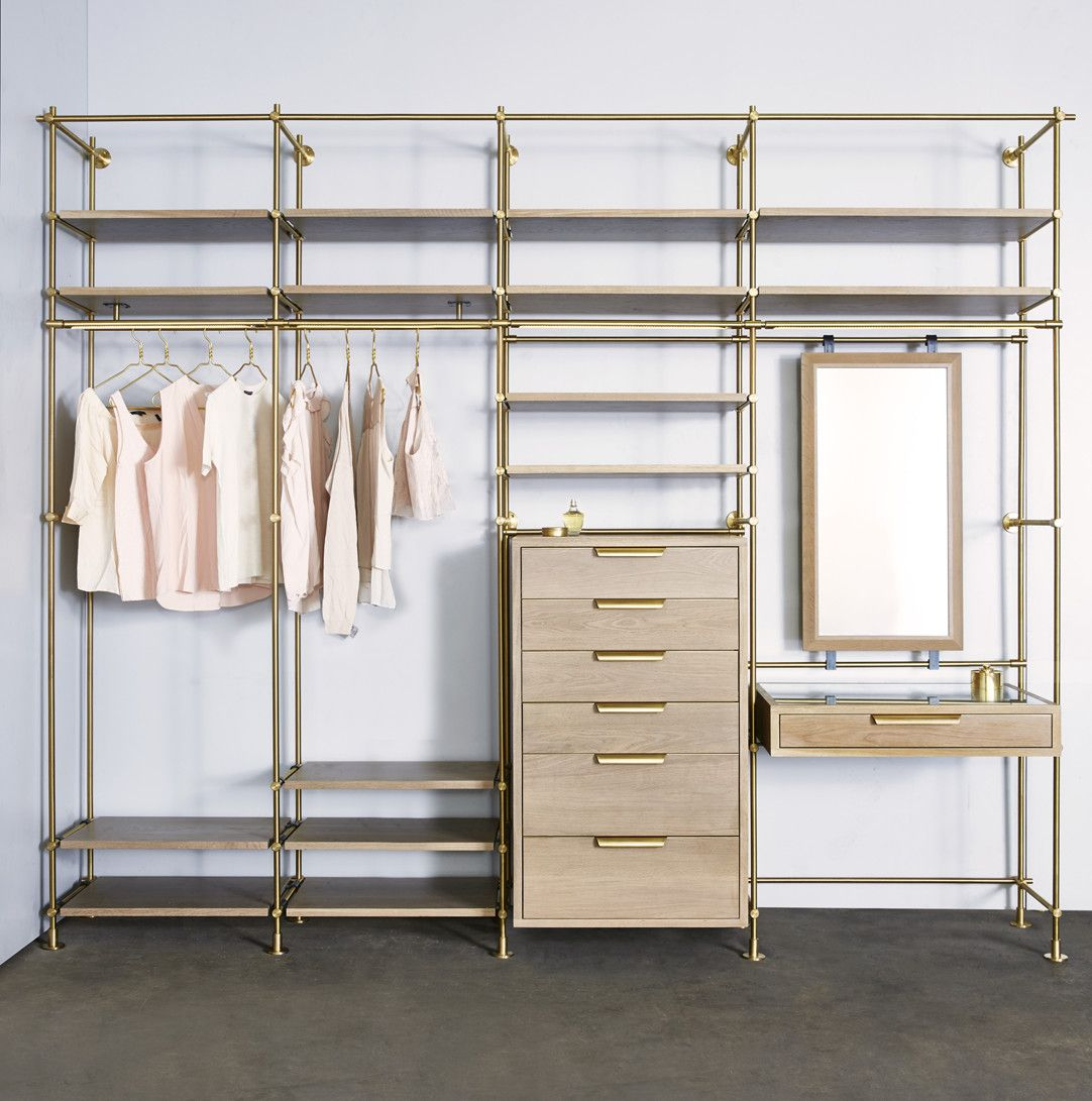 The Collectoru0027s Wardrobe + Vanity 4 Bay Unit